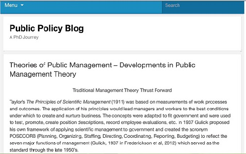 ترجمه مقاله انگلیسی  Theories of Public Management – Developments in Public