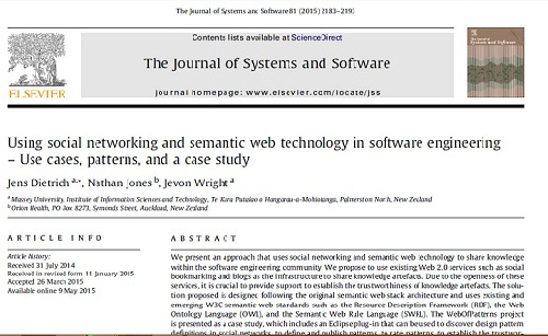 ترجمه مقاله : Using social networking and semantic web technology in software engineering ...